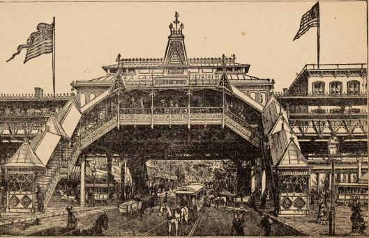 Cropsey elevated train station
